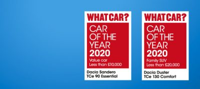 Dacia Double as Sandero and Duster win at the 2020 What Car? Awards