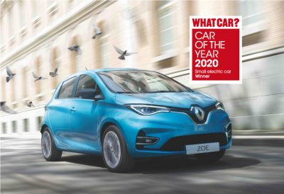 New Renault ZOE wins 'Best small electric car' at 2020 What Car? Awards